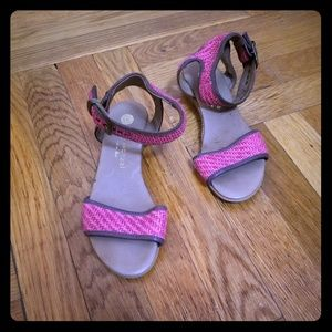 Pink Ankle Clasp Sandals